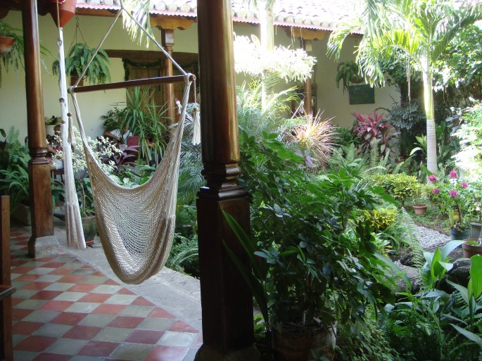 Have your lunch in a hammock at the Garden Café, Granada
