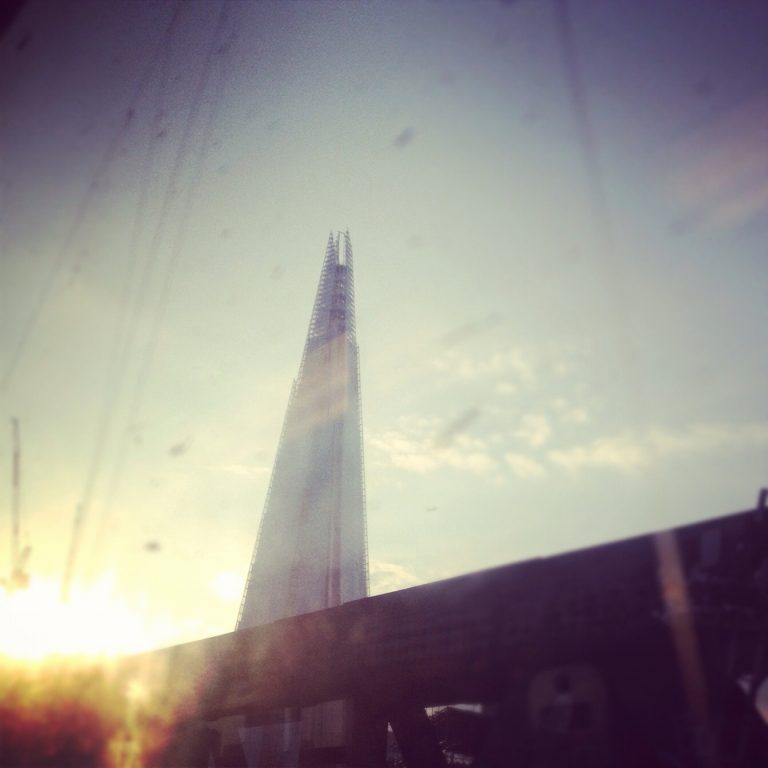 The View of The Shard from the train out of Waterloo
