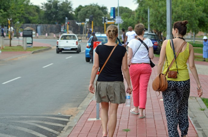 Walking round Soweto with my fellow guests
