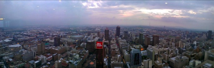 Johannesburg: spreading out as well as up