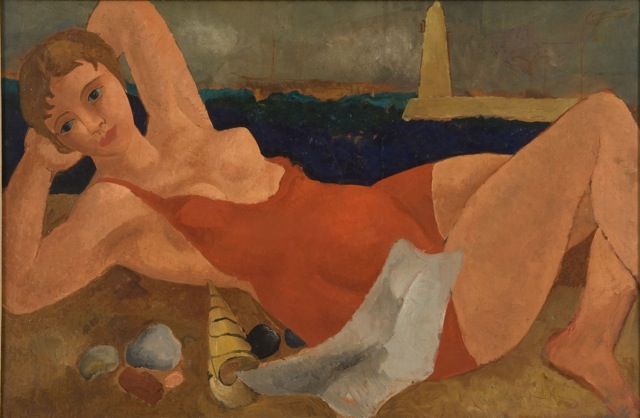 The Bather by Christopher Wood, one of the Jerwood's permanent collection