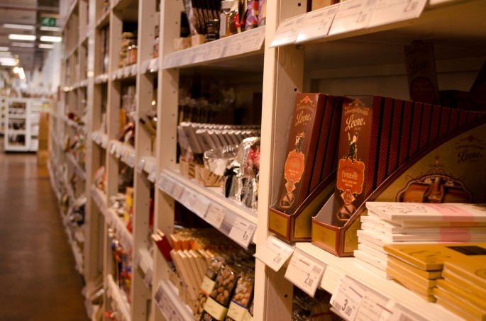 That's one hell of a chocolate aisle at Eataly