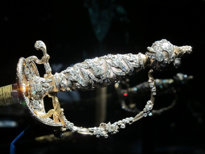 Diamond-encrusted Indian sword
