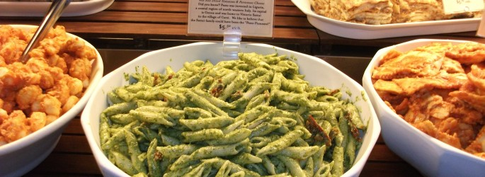 Pesto made with Genovese basil