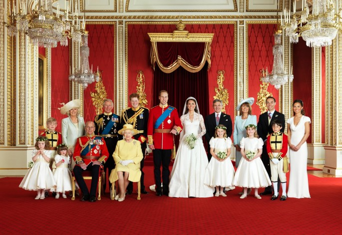 William & Kate's official wedding picture