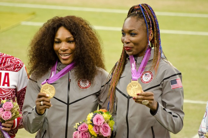 Williams sisters with Gold medal Olympics London 2012