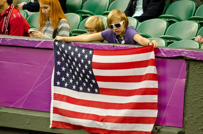 USA Flag at London 2012