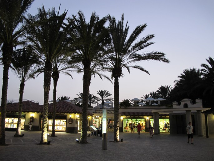 The resort of Meloneras, Gran Canaria by night