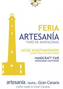 Poster for the artisan market at Maspalomas