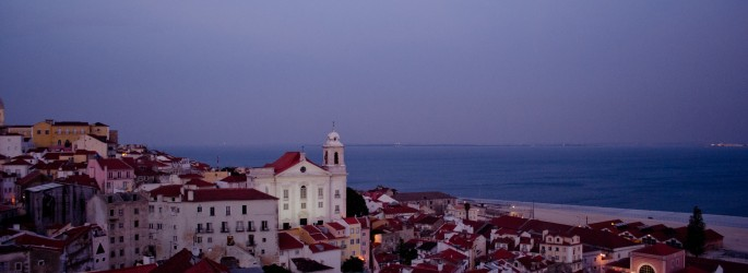 Sunset views of Lisbon from one of the many miradouros