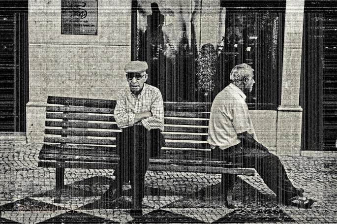 Best of friends on a bench
