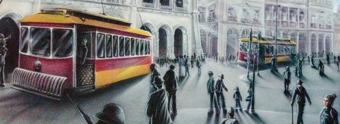 Trams feature heavily in depictions of Lisbon past and present
