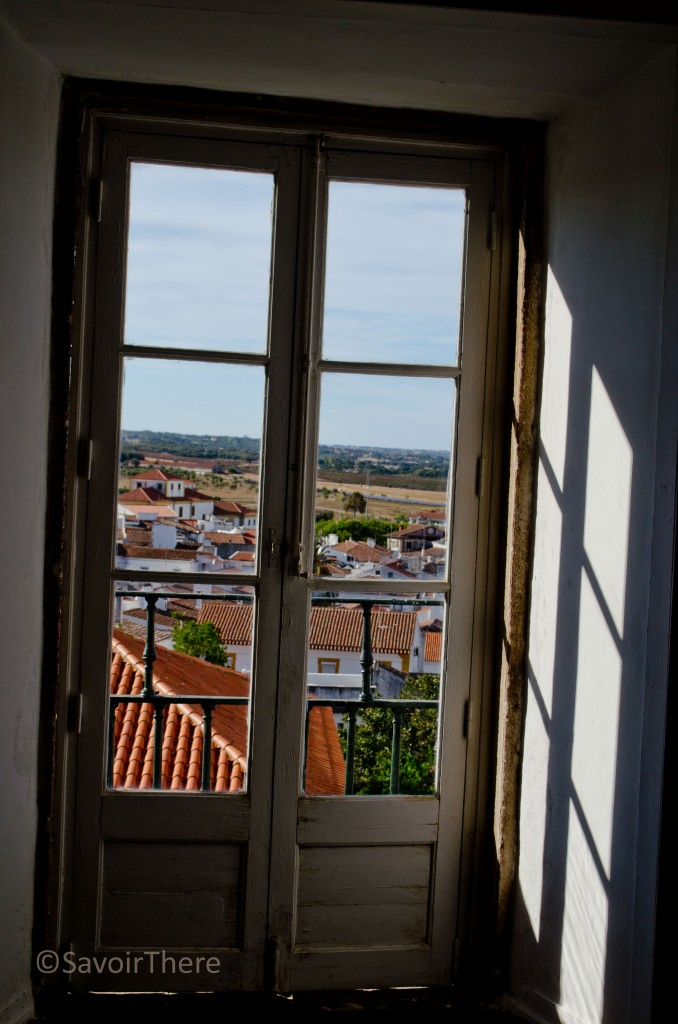 Picture window at Cadaval Palace
