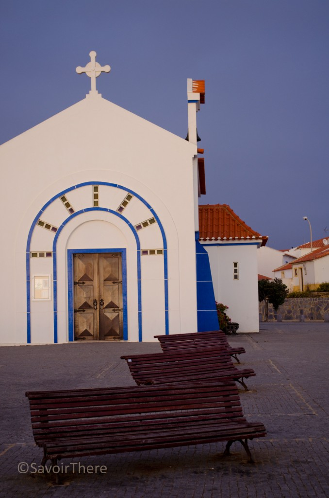 Church at Zambujeira do Mar at sunset