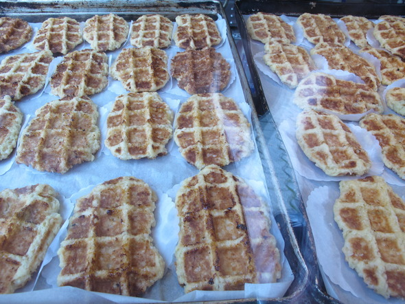 Waffles! Really good ones too.