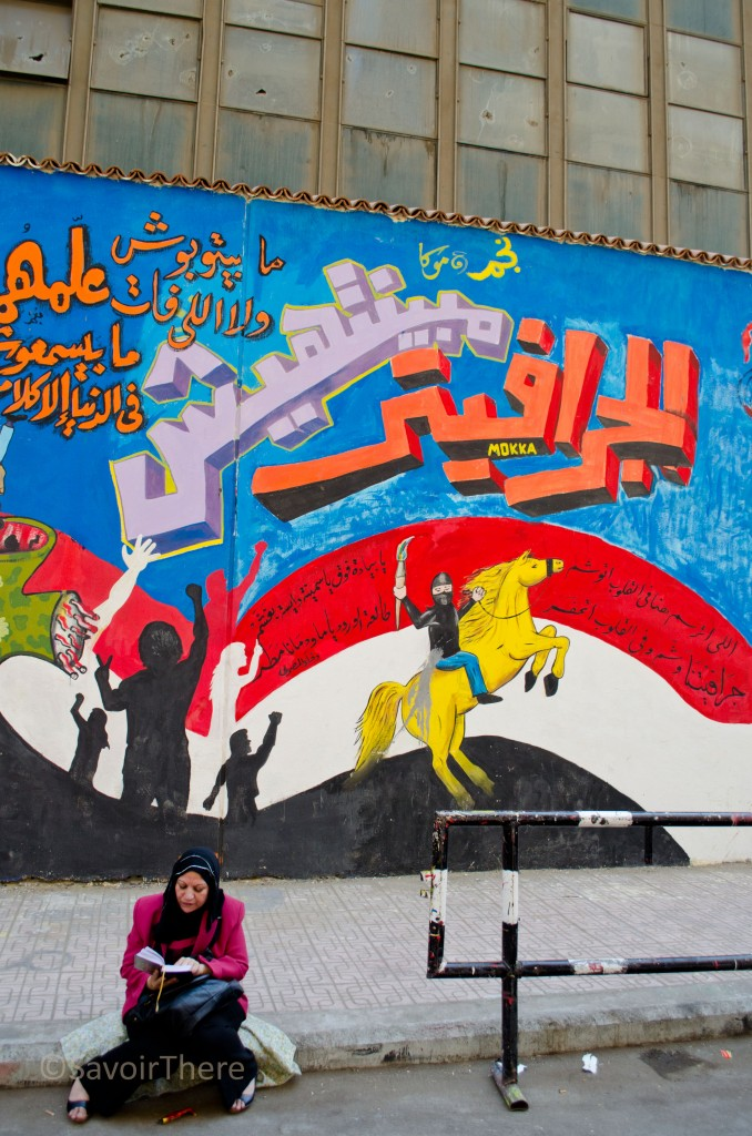 Woman in Tahrir Square