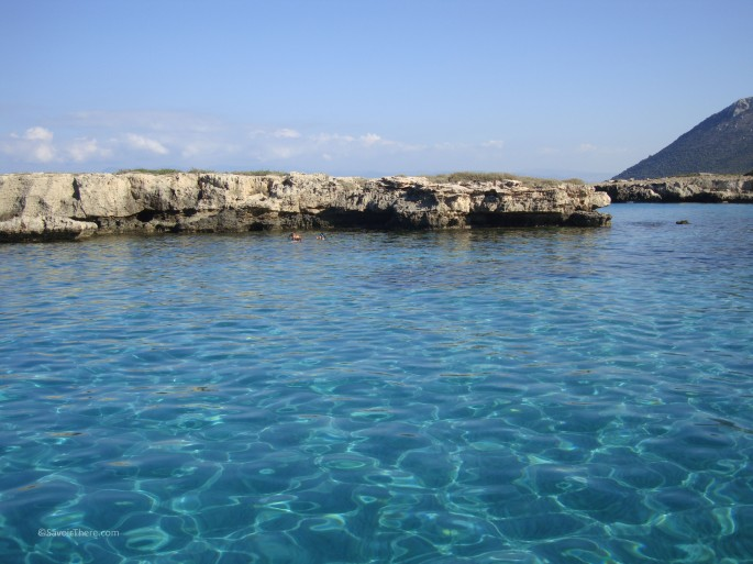 The crystal clear waters of the blue lagoon, Cyprus