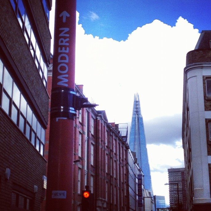 Modernity this way: The Shard as seen from Southwark
