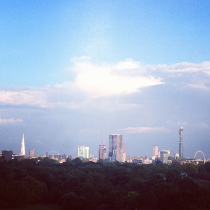 The Shard takes its place on the London skyline, seen from Primrose Hill
