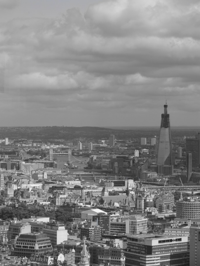The Shard as seen from The BT Tower