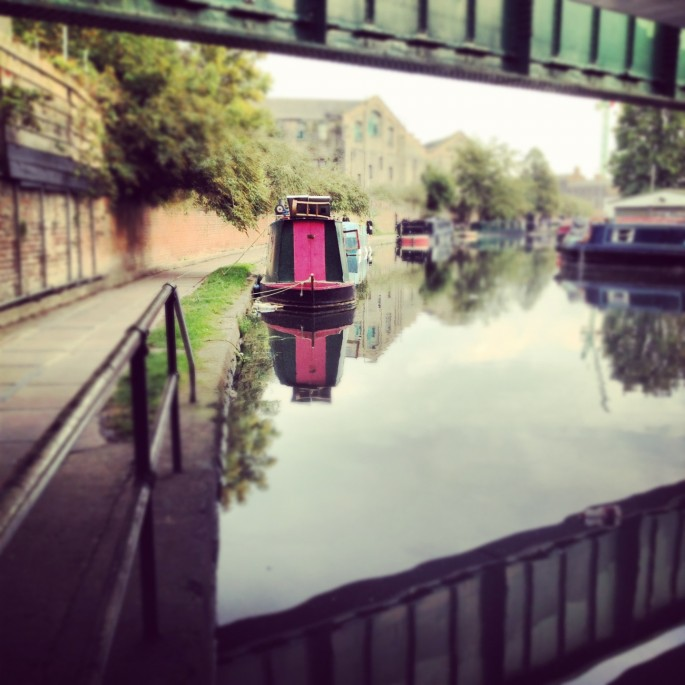 The canal behind King's Place