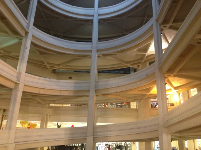 The spiral assembly line of the Lingotto factory