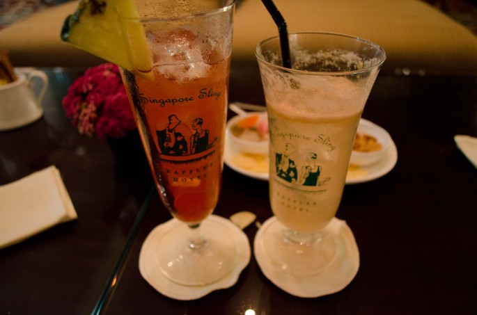 The original Singapore Sling (left) and the Makati Luxury Sling