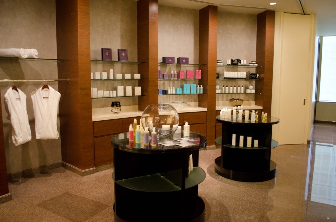Aromatherapy Associates products at the Fairmont Spa