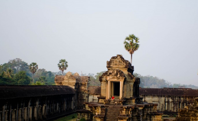 Angkor Wat Tourists
