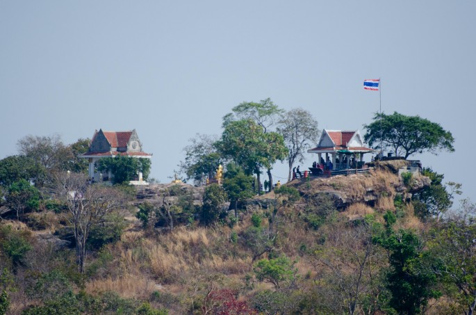 From Preah Vihear temple you can clearly see the Thai soldiers' positions