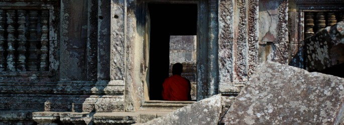 Monk at Preah Vihear Temple