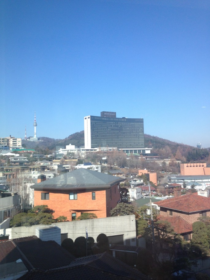 View of Grand Hyatt Seoul from IP Boutique Hotel