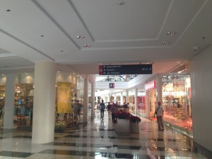 The shopping malls in Makati