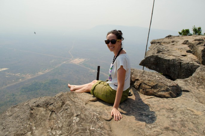 Enjoying the view from Preah Vihear Temple