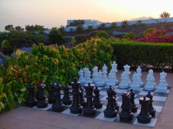 Giant Chess at a hotel in Lanzarote