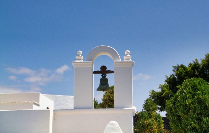 Lanzarote Whitewashed Bell