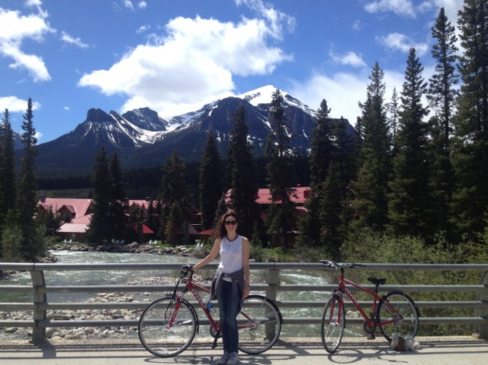Cycling at Lake Louise