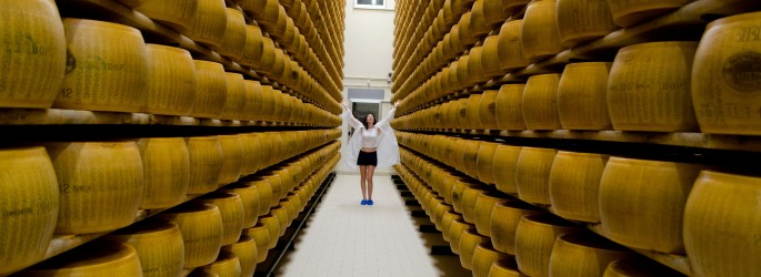 Behind the scenes at the parmesan factory