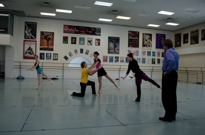 Rehearsals for Moulin Rouge at the RWB