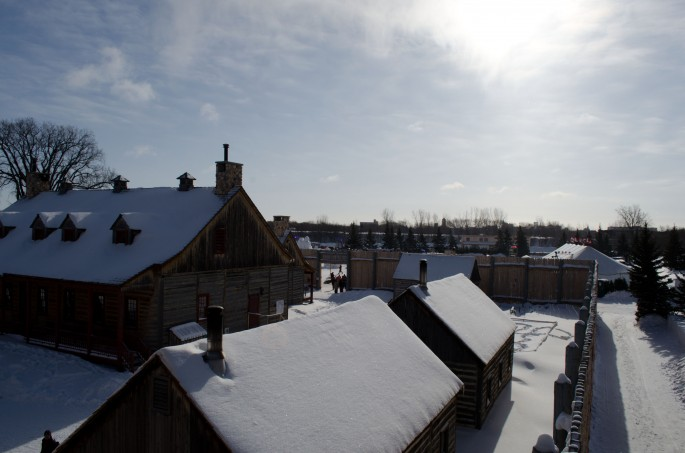 The snowy rooftops of Fort Gibraltar