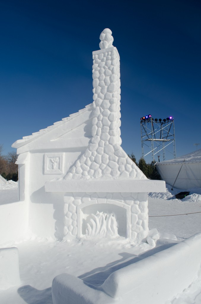 One of my favourite snow sculptures at Festival du Voyageur