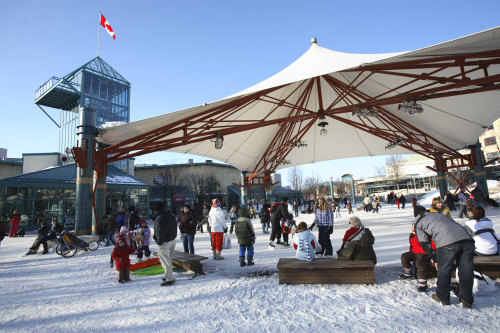 Skating at The Forks, Winnipeg