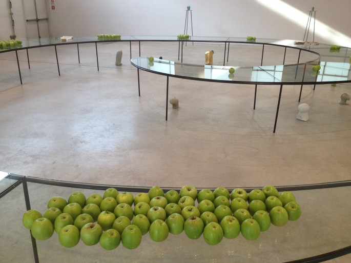installations at Turin's Merz gallery