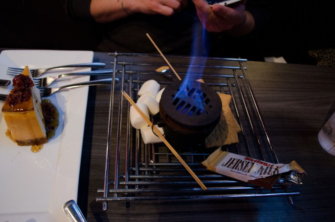 Make your own S'mores at Joe Beeverz