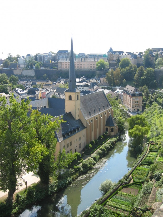 The view from Luxembourg city are stunning