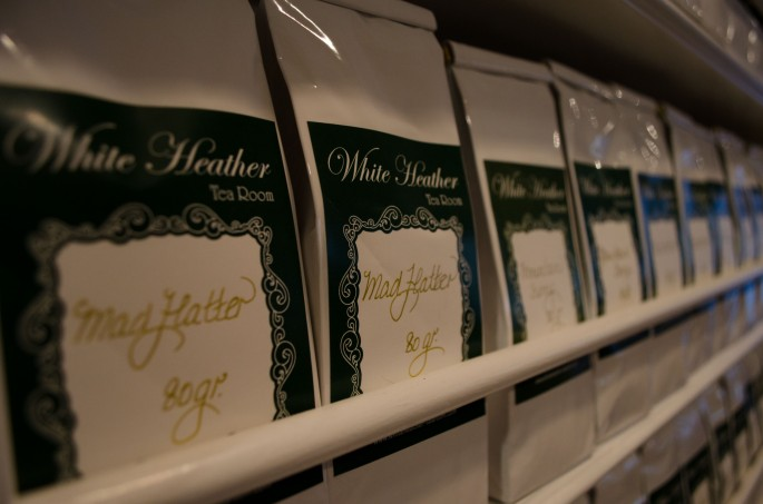 Tea on sale at The White Heather Tea Room