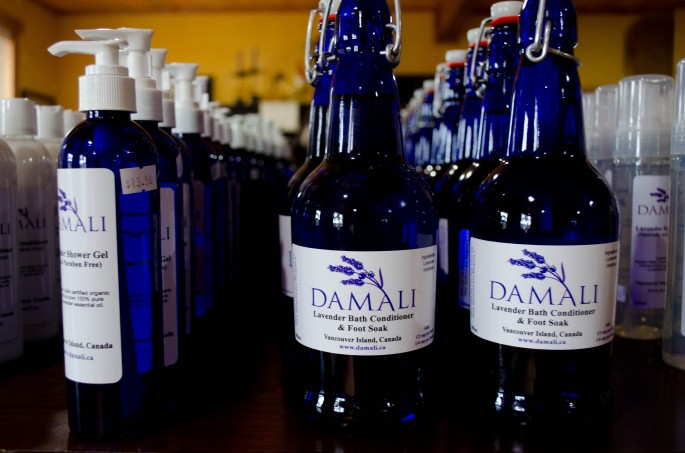 A selection of the hand-made products in Damali's cute shop
