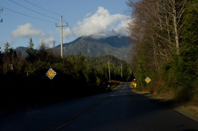 The scenic drive to Long Beach Lodge