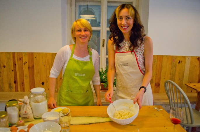 Learning to make Slovenia's national dishes and trying its local tipples with Spela