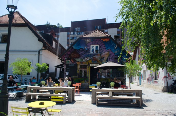 There's more to Ljubljana than good bars, but this one was pretty cool